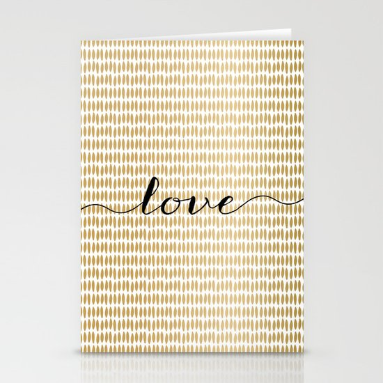 Love Gold Stationery Cards