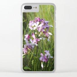 Summer Flower Clear iPhone Case