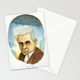 Portrait of philosophers Vol.2 Jacques Derrida Stationery Cards