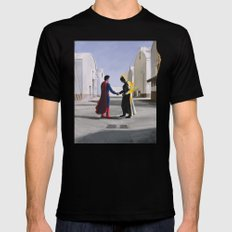 Wish You Were Here Black Mens Fitted Tee 2X-LARGE