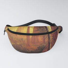 Giant Redwood Trees Of California 1874 By Albert Bierstadt   Reproduction Painting Fanny Pack
