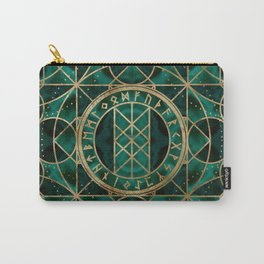 Web of Wyrd The Matrix of Fate - Gold and Malachite Carry-All Pouch