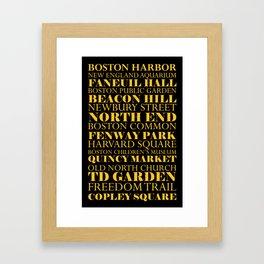 Boston Landmarks Framed Art Print