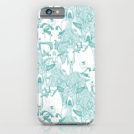just goats teal iPhone Case