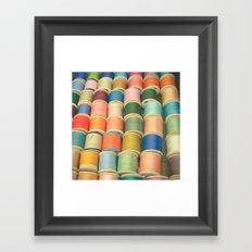 Sew a Rainbow Framed Art Print