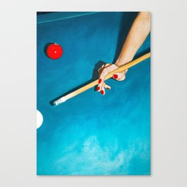 The Pool Table Canvas Print