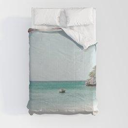 Blue Lagoon Beach Dream #2 #wall #decor #art #society6 Comforters