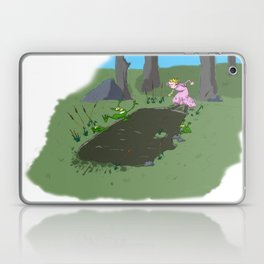 Long jump  competition. Laptop & iPad Skin