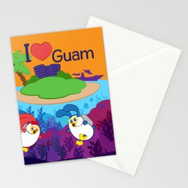 Ernest & Coraline | I love Guam Stationery Cards