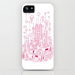 Kuala Lumpur (Red ver.) iPhone Case
