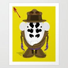 Mr Potato R. Art Print