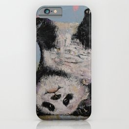 Panda Headstand iPhone Case
