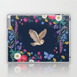 Owl and Wildflowers Laptop & iPad Skin
