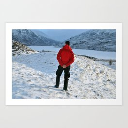 Snow and a Loch Art Print