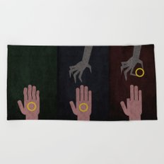 Lord of the Rings Minimalist Posters: Trilogy Beach Towel
