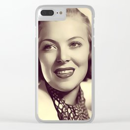 Delma Byron, Vintage Actress Clear iPhone Case