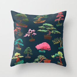 Bonsai Madness Throw Pillow
