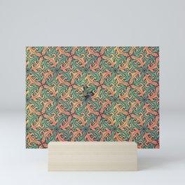 Escape Pattern Mini Art Print