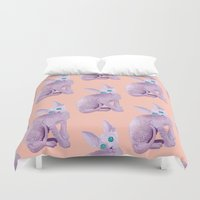 sphynx Duvet Covers featuring sphynx by terastar