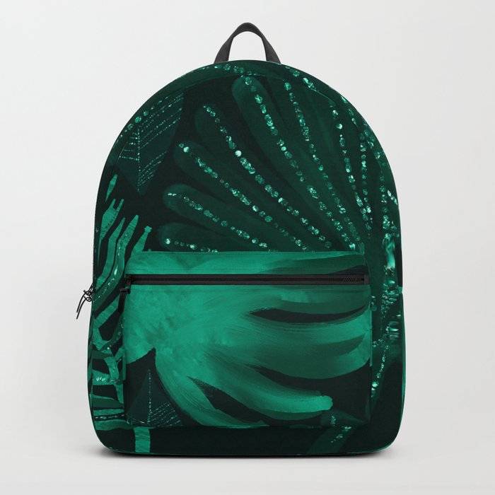 Emerald botanical - tropical ferns and palms Backpack