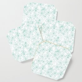 Floral Freeze White Coaster