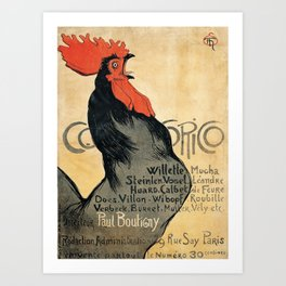 Cocorico by Theophile Steinlen, 1899 Art Print