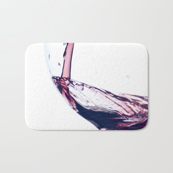 Red Wine Splash Bath Mat