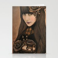 chocolate Stationery Cards featuring Chocolate by Sheena Pike ART