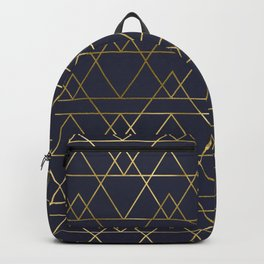 Modern Gold Navy Blue Backpack