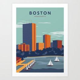 Boston Print Art Print
