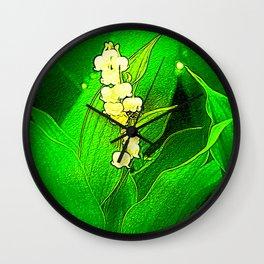 trush in bloom in the garden Wall Clock