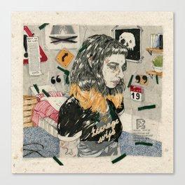 Teenage wife Canvas Print