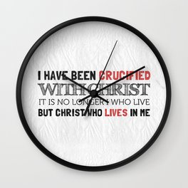 Crucified with Christ - Galatians 2:20 Wall Clock