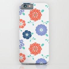 Block Print Flowers iPhone 6s Slim Case