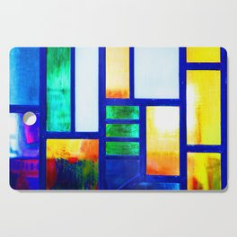 Art Deco Colorful Stained Glass Cutting Board