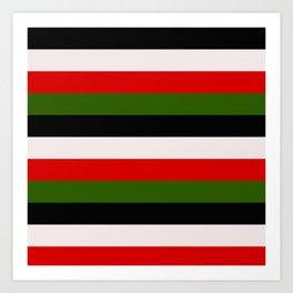 Four Tone Stripes - Christmas Art Print