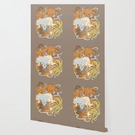 Kitsune group Wallpaper