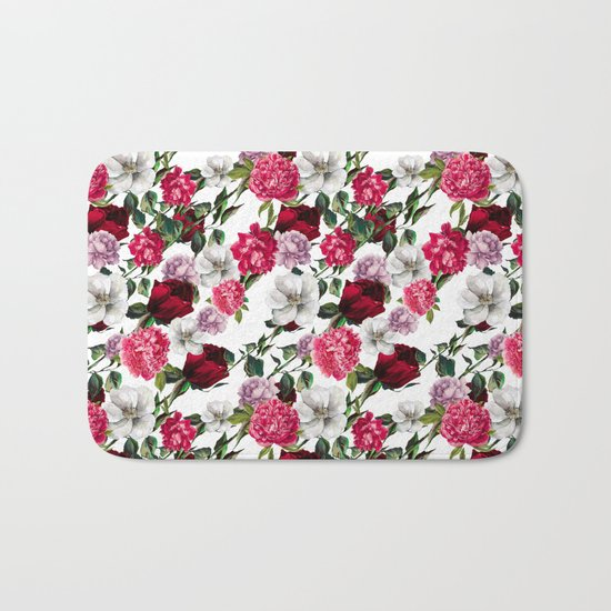 Fashion Floral Pattern Bath Mat