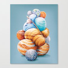 Planetary Pile-Up Canvas Print