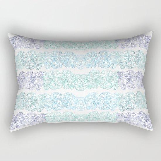 Sea Wave Clouds Rectangular Pillow