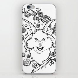The Beast (black and white) iPhone Skin