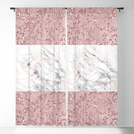 Rose Gold Marble Crackle Mix Blackout Curtain