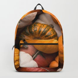 Pumpkins background Backpack