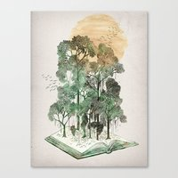 jungle Canvas Prints featuring Jungle Book by David Fleck