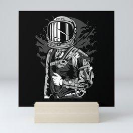 Post Apocalyptic Astronaut Shirt Design Mini Art Print