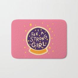 I See A Strong Girl Bath Mat