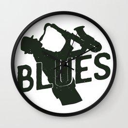 Blues Grunge Saxophone Wall Clock