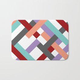 """Geometric Print """"Broken Weave"""" Bath Mat"""