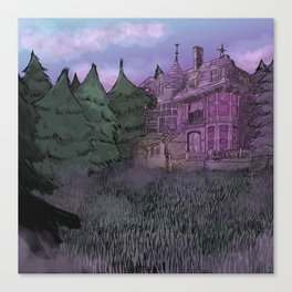 Misty Mansion Canvas Print