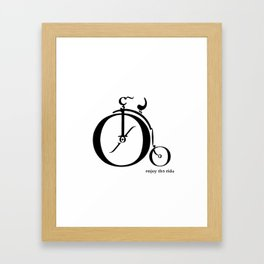 Enjoy the Ride Framed Art Print